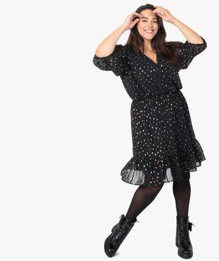Robe femme à manches 3/4 avec motifs scintillants vue1 - GEMO (G TAILLE) - GEMO