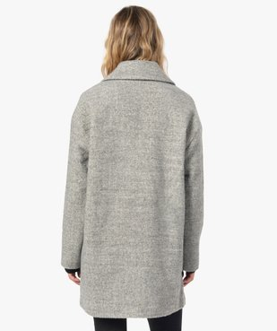 Manteau femme mi-long à double boutonnage vue3 - Nikesneakers(FEMME PAP) - Nikesneakers