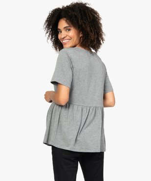 Tee-shirt de grossesse taille empire et manches courtes vue3 - Nikesneakers (MATER) - Nikesneakers