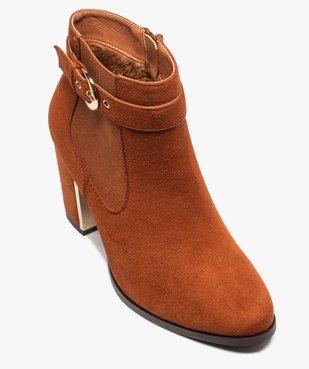 Boots femme à talon unis en suédine détails métallisés vue5 - Nikesneakers(URBAIN) - Nikesneakers