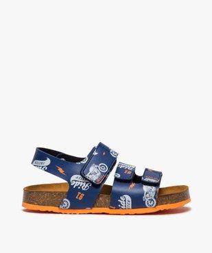 Sandales garçon imprimées à brides scratch vue1 - Nikesneakers (ENFANT) - Nikesneakers