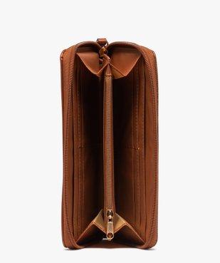 Portefeuille femme zippé multicolore vue3 - GEMO (ACCESS) - GEMO