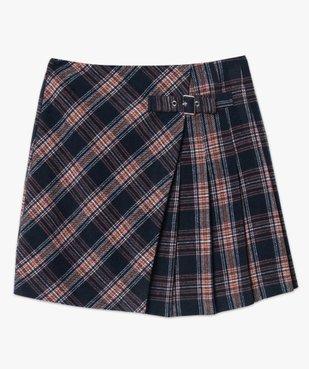 Jupe femme courte à carreaux style écossais vue4 - GEMO(FEMME PAP) - GEMO