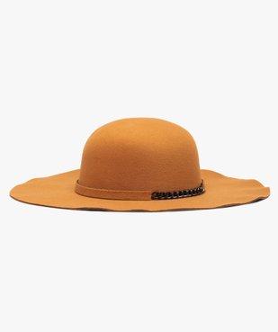 Chapeau femme forme capeline avec chaîne fantaisie vue1 - GEMO (ACCESS) - GEMO