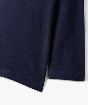 Tee-shirt garçon manches longues à poche poitrine vue2 - GEMO C4G GARCON - GEMO