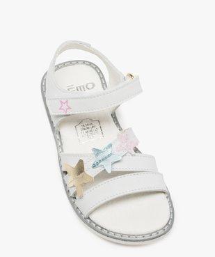 Sandales fille avec étoiles brodées sur le dessus vue5 - GEMO (ENFANT) - GEMO