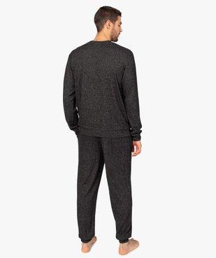 Pyjama homme en maille douillette vue3 - GEMO(HOMWR HOM) - GEMO