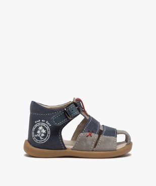 Sandales premiers pas bébé garçon en cuir vue1 - GEMO(BEBE DEBT) - GEMO