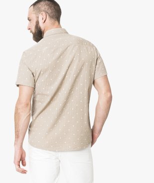 Chemise manches courtes à motifs vue3 - GEMO (HOMME) - GEMO