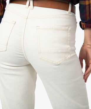 Jean femme coupe Straight taille haute vue2 - GEMO(FEMME PAP) - GEMO