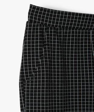 Pantalon fille en maille souple et ceinture élastiquée coupe slim vue2 - GEMO (JUNIOR) - GEMO