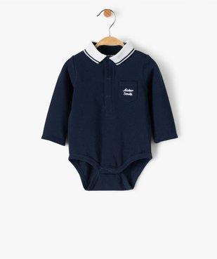 Ensemble bébé garçon 2 pièces : body + pantalon motif ours vue3 - GEMO(BB COUCHE) - GEMO