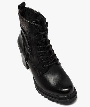 Boots femme à talon carré et semelle crantée – Tom Tailor vue5 - TOM TAILOR - GEMO