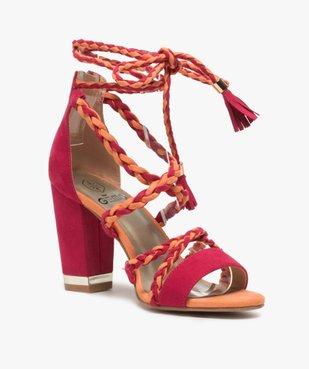 Sandales femme talon haut - Gémo x Lalaa Misaki vue2 - GEMO(URBAIN) - GEMO