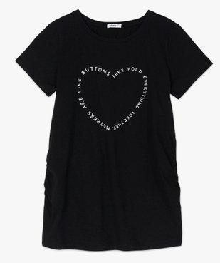 Tee-shirt de grossesse avec inscription en forme de cœur  vue4 - GEMO (MATER) - GEMO