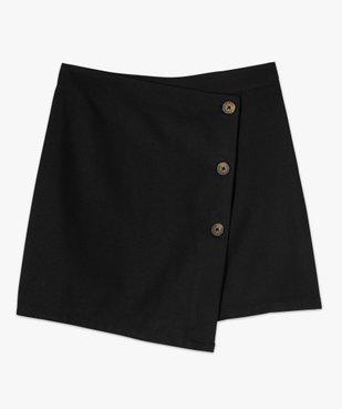 Jupe short femme effet portefeuille avec boutons  vue5 - GEMO(FEMME PAP) - GEMO