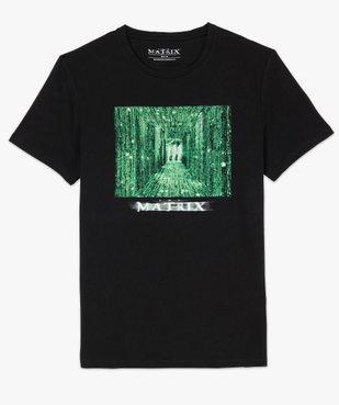 Tee-shirt homme manches courtes imprimé - Matrix vue4 - MATRIX - GEMO
