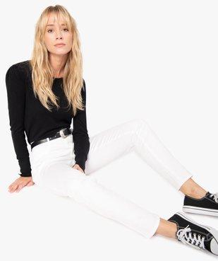 Pantalon femme façon jean coupe slim vue1 - GEMO(FEMME PAP) - GEMO