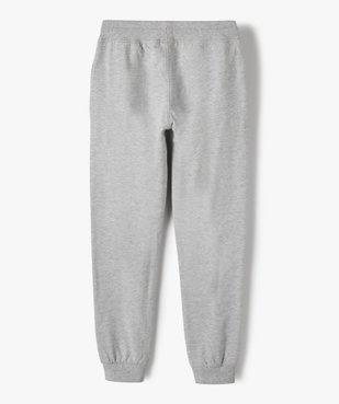 Pantalon de jogging garçon avec intérieur molletonné vue3 - GEMO (JUNIOR) - GEMO