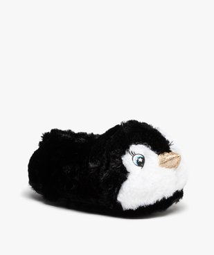 Chaussons femme 3D en forme de pingouins vue2 - GEMO(HOMWR FEM) - GEMO
