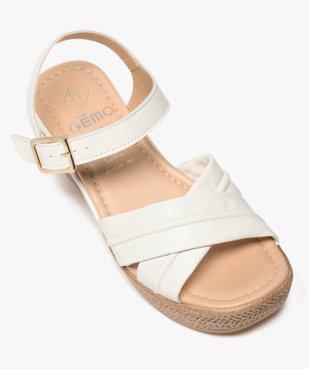 Sandales femme à talon compensé coupe spéciale pied large vue5 - GEMO(URBAIN) - GEMO