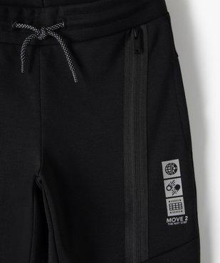 Pantalon de jogging garçon avec zips fantaisie sur l'avant vue3 - GEMO (ENFANT) - GEMO