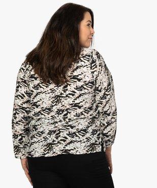 Blouse femme imprimée avec zip fantaisie sur les épaules vue3 - Nikesneakers (G TAILLE) - Nikesneakers