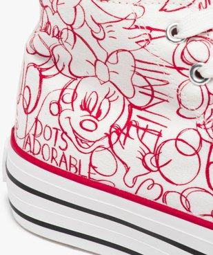 Baskets femme semi-montantes en toile – Minnie Mouse vue6 - MINNIE - GEMO