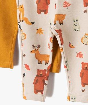 Pantalon bébé garçon en maille fine (lot de 2) vue2 - GEMO C4G BEBE - GEMO