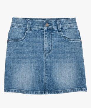 Jupe fille en jean extensible vue2 - GEMO (ENFANT) - GEMO