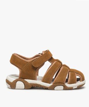 Sandales garçon unies à bout fermé vue1 - Nikesneakers (ENFANT) - Nikesneakers