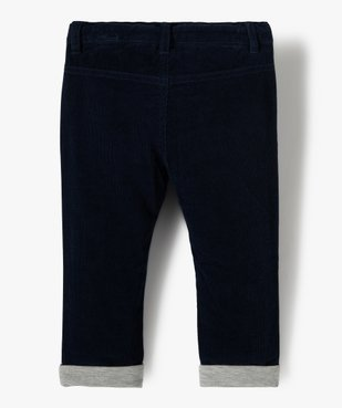Pantalon bébé garçon en velours doublé jersey vue3 - GEMO(BEBE DEBT) - GEMO
