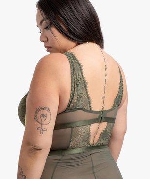 Body femme en tulle et dentelle - Gémo x Lalaa Misaki vue2 - GEMO(HOMWR FEM) - GEMO