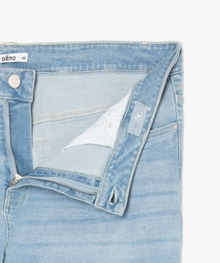 Jean femme straight stretch à taille réglable vue5 - GEMO (G TAILLE) - GEMO