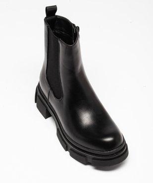 Boots femme unies style rock à semelle plateforme crantée vue5 - GEMO (CASUAL) - GEMO