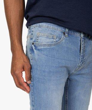 Jean homme skinny délavé avec plis sur les hanches vue2 - Nikesneakers (HOMME) - Nikesneakers