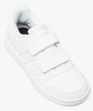 Basket enfants à scratchs Hoops 2.0 - Adidas vue5 - ADIDAS - GEMO