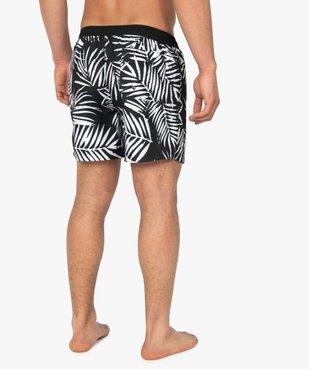 Short de bain homme motif feuillage en contraste vue3 - GEMO (PLAGE) - GEMO