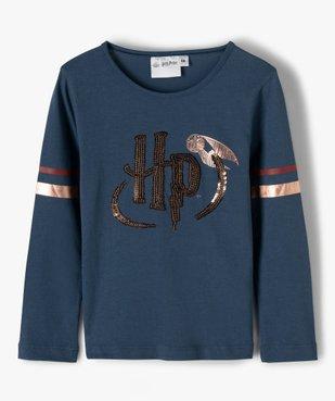 Tee-shirt fille à manches longues avec motif sequins  – Harry Potter vue1 - HARRY POTTER - GEMO
