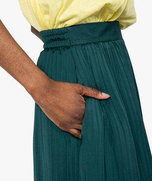 Pantalon femme plissé en matière satinée vue2 - GEMO(FEMME PAP) - GEMO