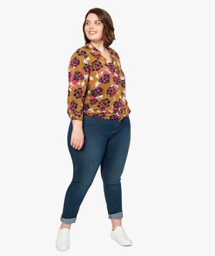 Jean femme extensible coupe Slim vue5 - GEMO (G TAILLE) - GEMO