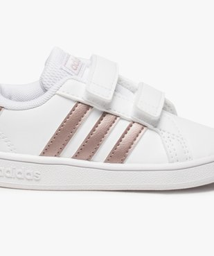 Baskets fille à scratch Grand Court Adidas vue6 - ADIDAS - Nikesneakers