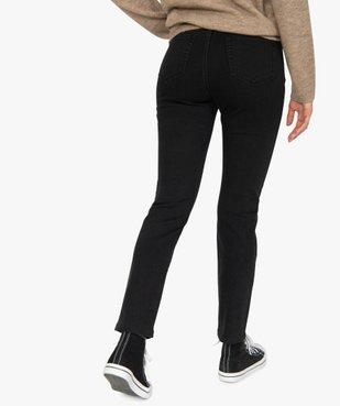 Jean femme slim à taille haute noir - L26 vue3 - GEMO(FEMME PAP) - GEMO