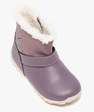 Boots bébé fille zippées fourrées sherpa – Geox vue5 - GEOX - GEMO