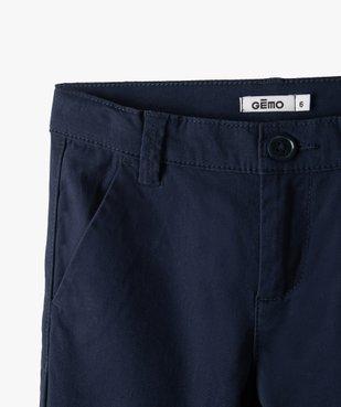 Pantalon garçon chino en toile unie  vue3 - GEMO (ENFANT) - GEMO