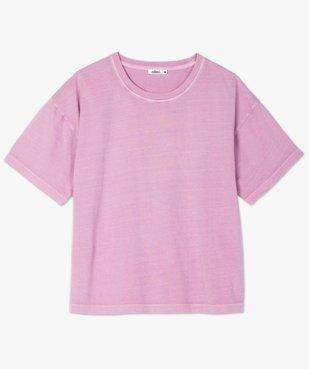 Tee-shirt femme à manches courtes coupe ample vue4 - GEMO(FEMME PAP) - GEMO
