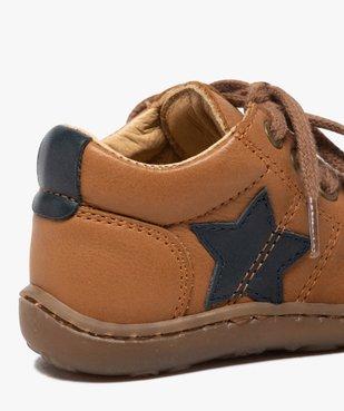 Chaussures premiers pas à lacets bébé garçon - Bopy vue6 - BOPY - GEMO