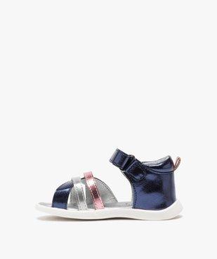 Sandales bébé fille métallisées à scratch - Lulu Castagnette  vue3 - LULU CASTAGNETT - GEMO