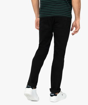 Jean homme straight stretch 5 poches vue2 - GEMO (HOMME) - GEMO