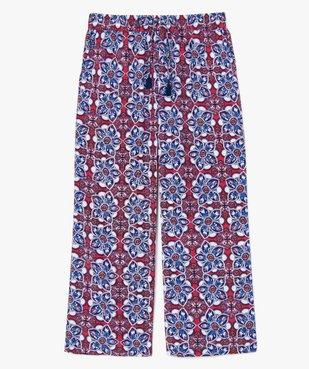 Pantalon femme à motifs fleuris coupe ample vue1 - GEMO (G TAILLE) - GEMO